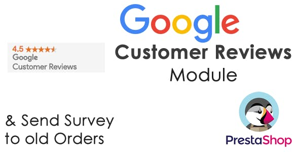 Google Customer Reviews Module Prestashop with Fake Survey & Send Old Orders
