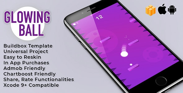 GlowingBall - Buildbox template - CodeCanyon Item for Sale