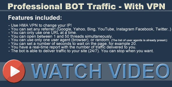 Professional BOT Traffic - With VPN