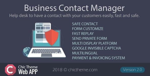 Business Contact Manager By Chictheme Codecanyon
