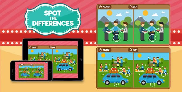 Spot the Differences - HTML5 Game