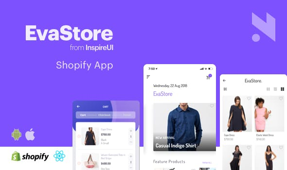 EvaStore - the complete mobile app for Shopify store by React Native and GraphQL - CodeCanyon Item for Sale