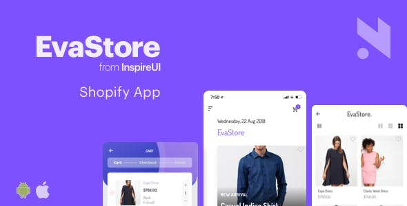 EvaStore - the complete mobile app for Shopify store by React Native and GraphQL