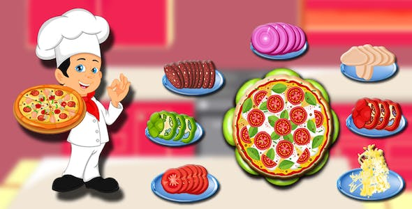 Pizza Maker Kitchen Fever Cooking game(Android Studio)