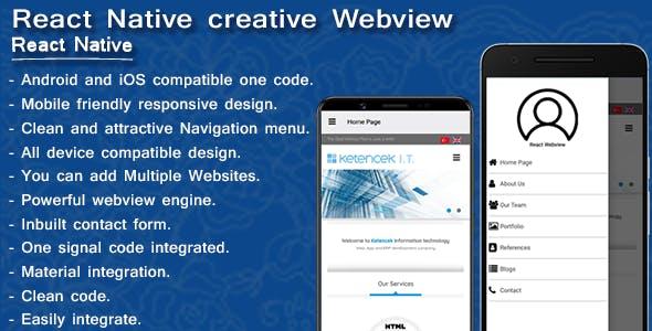 Creative webview | Web2app converter | React Native - CodeCanyon Item for Sale