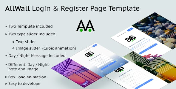 AllWall - Login and Register Page Template