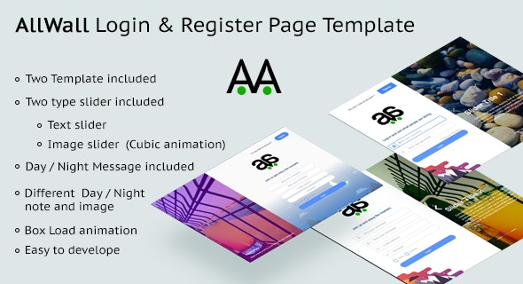 AllWall - Login and Register Page Template - CodeCanyon Item for Sale