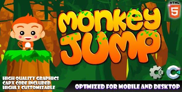 Monkey Jump (C2, C3, HTML5) Game.