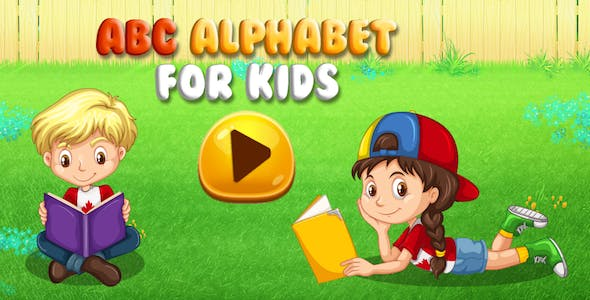 Free Educational ABC Learning Games for Kids + Admob,applovin + Ready For Publish + Android Studio