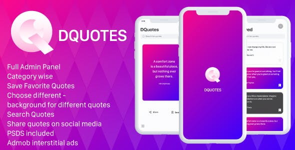 Quotes iOS App with Admin Panel