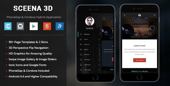 Sceena 3D | PhoneGap & Cordova Mobile App