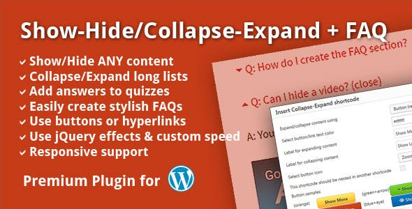 Show-Hide/Collapse-Expand + FAQ