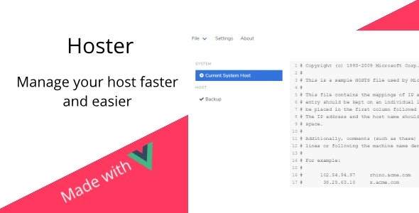 Hoster - Manage your hosts file faster and easier - CodeCanyon Item for Sale