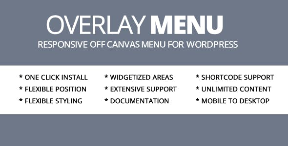 Overlay Menu WordPress Plugin