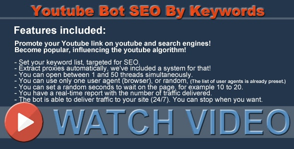 Youtube Bot SEO By Keywords