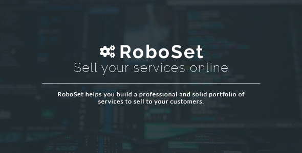 RoboSet - Sell your services online - CodeCanyon Item for Sale