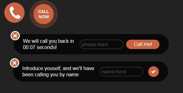 Bazz CallBack widget Pro (stand-alone)