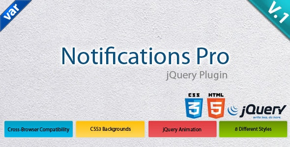 Notifications Pro - CodeCanyon Item for Sale