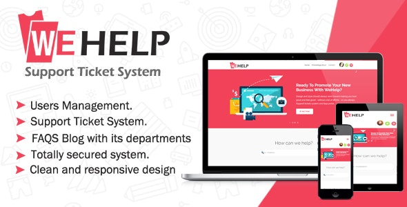 WeHelp - Ticket Support System - CodeCanyon Item for Sale