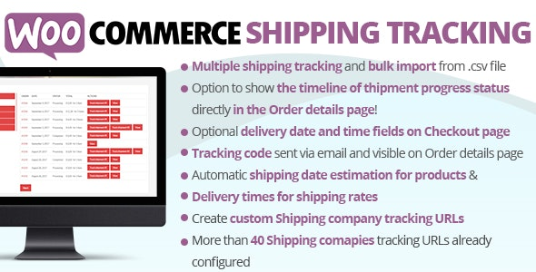 WooCommerce Shipping Tracking by vanquish | CodeCanyon