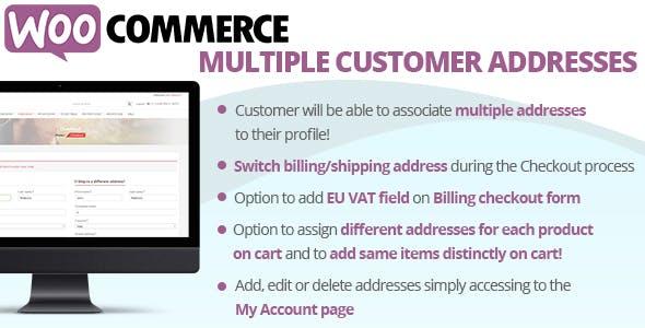 WooCommerce Multiple Customer Addresses        Nulled