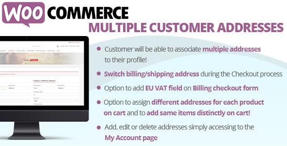 WooCommerce Multiple Customer Addresses by vanquish | CodeCanyon