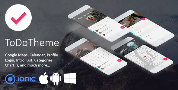 ToDo Theme - Elegant Multipurpose Ionic 3 Template
