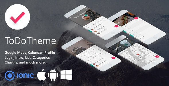 ToDo Theme - Elegant Multipurpose Ionic 3 Template - CodeCanyon Item for Sale