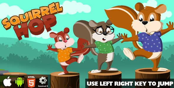 Squirrel Hop HTML5 Game (CAPX) - CodeCanyon Item for Sale