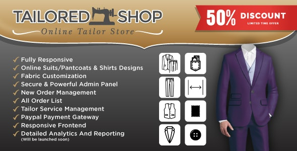 Tailored Shop – Online Tailor Store - Garments And Fashion House Management System -Tailoring System - CodeCanyon Item for Sale