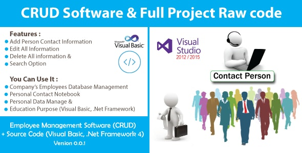 Simple Employee Management System (CRUD) With Source Code by