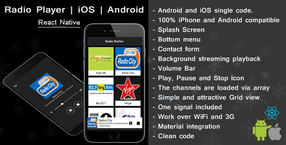 React native Radio player for iOS and android - CodeCanyon Item for Sale