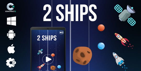 2 Ships - HTML5 Game (CAPX)