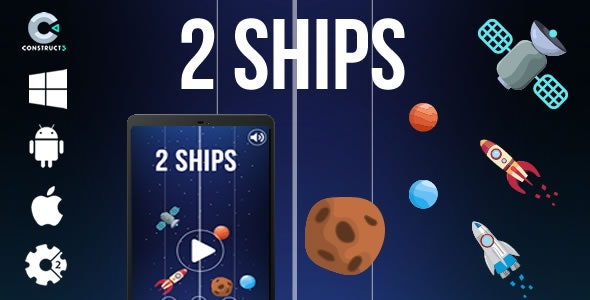 2 Ships - HTML5 Game (CAPX) - CodeCanyon Item for Sale