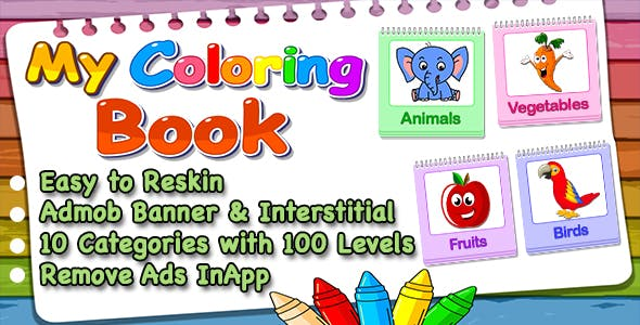 My Coloring Book Game For Kids + IOS Version