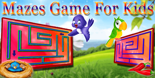 Kids Maze : Educational Maze Game for Kids Android Studio + Ready To Publish
