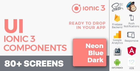 Ionic 3 / Angular 6 UI Theme /  Template App - Multipurpose Starter App - Flat Red Light
