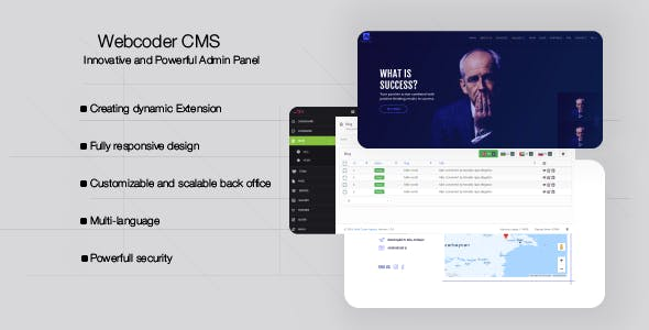 WebCoder - Fully Customizable CMS