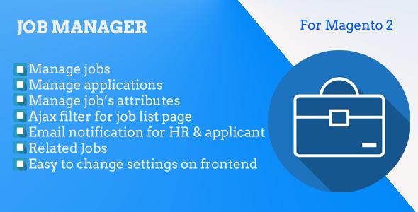 Magento 2 Job Manager