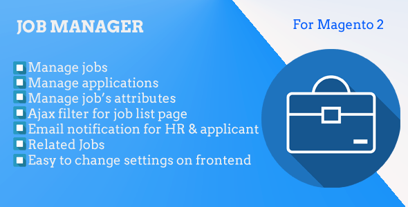 Magento 2 Job Manager - CodeCanyon Item for Sale
