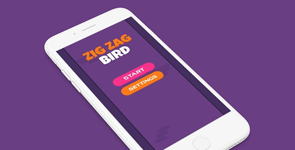 ZIG ZAG BIRD BUILDBOX PROJECT WITH ADMOB