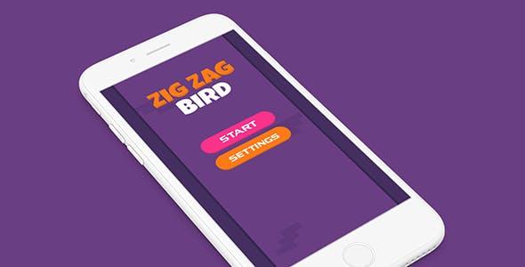 ZIG ZAG BIRD WITH ADMOB - IOS XCODE FILE - CodeCanyon Item for Sale