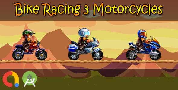 Bike Racing 3 Motorcycles (Android Studio + Admob + GDPR Support + API 27 + Eclipse)