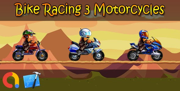 Bike Racing 3 Motorcycles - iOS Xcode 10 + Admob