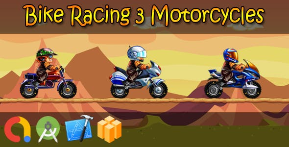 Bike Racing 3 Motorcycles (BBDOC + iOS Xcode 10 + Android Studio + Admob + GDPR + API 27 + Ecli