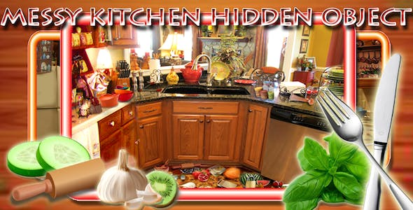 Hidden Objects Messy Kitchen + Admob,Chartboost,Applovin + Ready For Publish + Android Studio