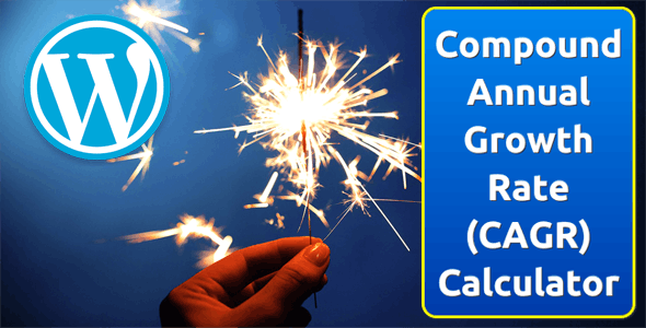 Compound Annual Growth Rate (CAGR) Calculator for WordPress