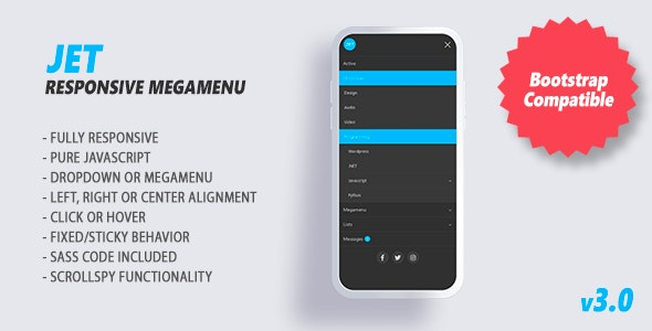 Jet - Responsive Megamenu - CodeCanyon Item for Sale