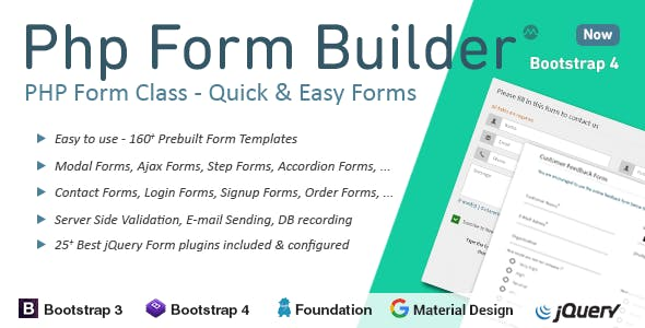PHP Form Builder        Nulled
