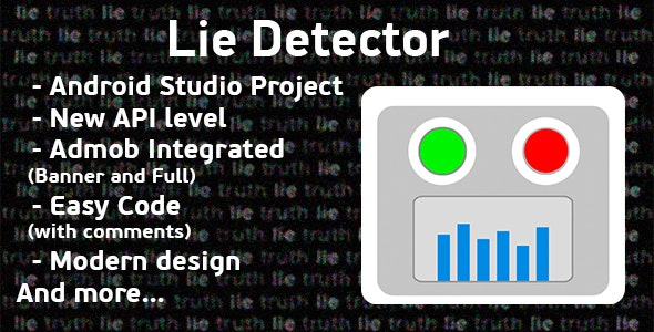 Lie Detector Prank + Admob Ads - CodeCanyon Item for Sale